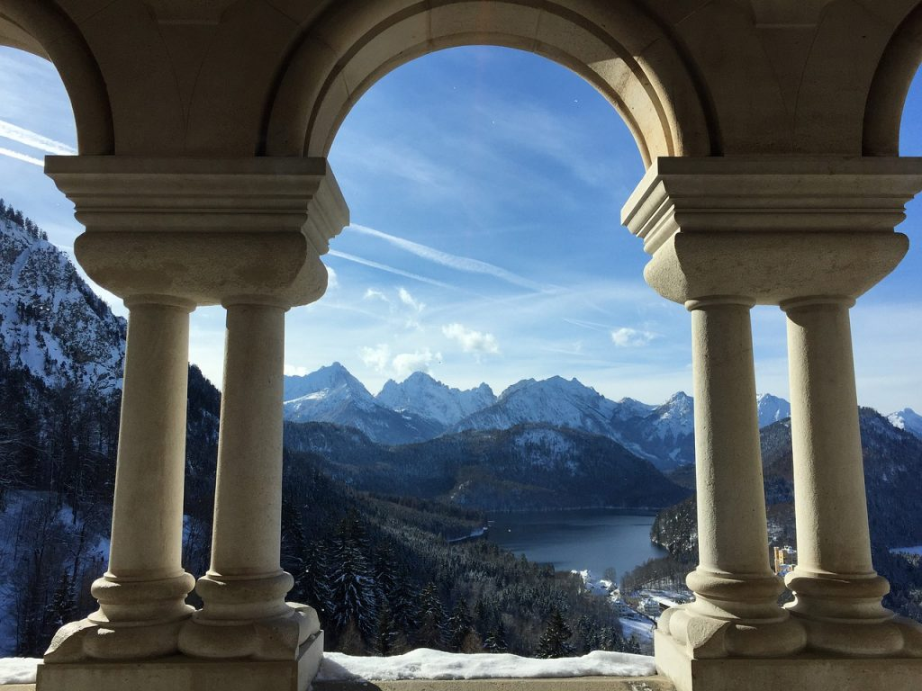 view from Neuschwanstein castle inside